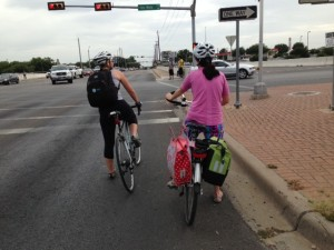 In Austin, bikes are not just for commutes, but for shopping, too.