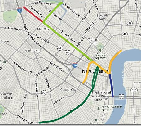 Streetcar In New Orleans Map.In New Orleans The Streetcar Is More Than Just For Tourists