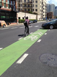 Chicago's bike lanes still result in bike-car conflict.