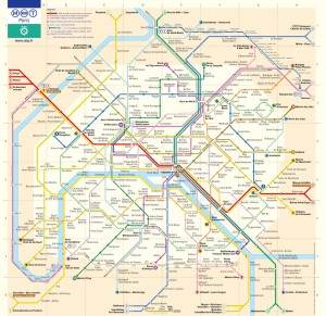The complicated transit system of Paris.