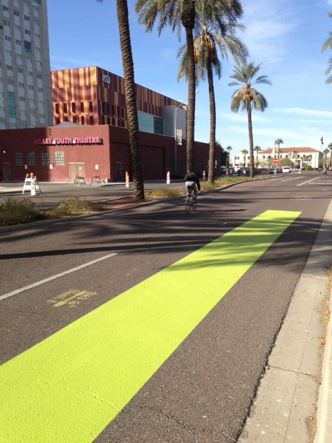 Phoenix is updating its bike lanes as part of a federal grant.