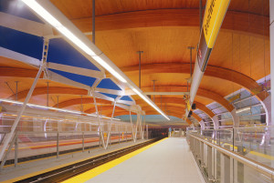 The Brentwood Skytrain station in Vancouver. Image: courtesy Perkins+Will