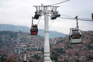 Medellin's MetroCable system (Photo via streetfilms.org)